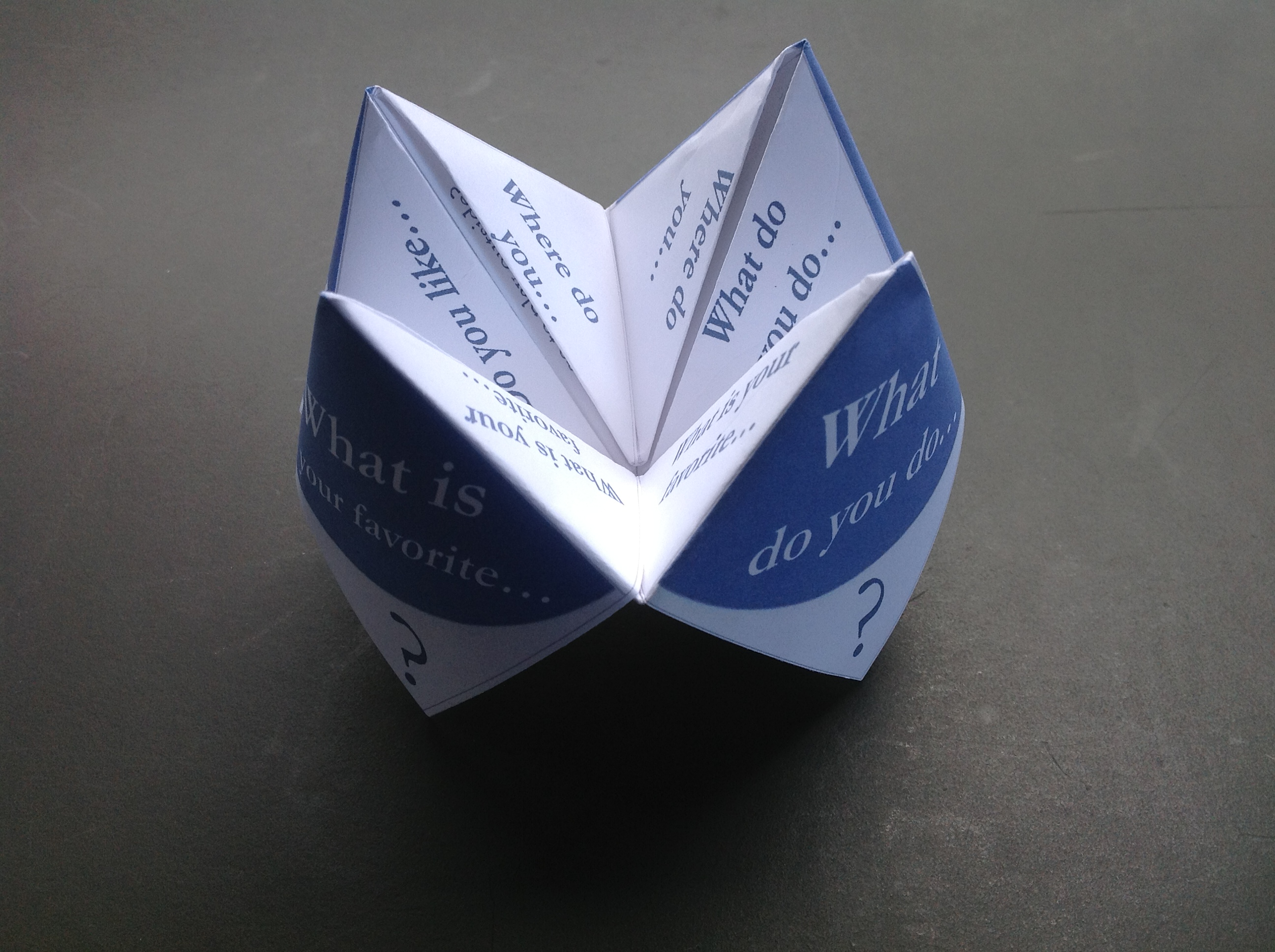 how to make the fortune teller game